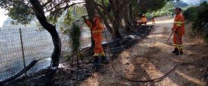 Incendi al Lido di Noto, le fiamme alimentate dal vento caldo minacciano le case