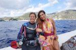 Veronica Maya a Lipari per uno shooting fotografico subacqueo