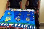 Magliette e sciarpe degli Europei contraffatte, scatta il sequestro in due negozi di Catania