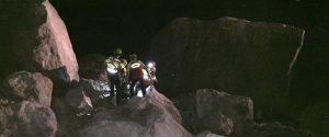 L'intervento degli uomini del soccorso alpino
