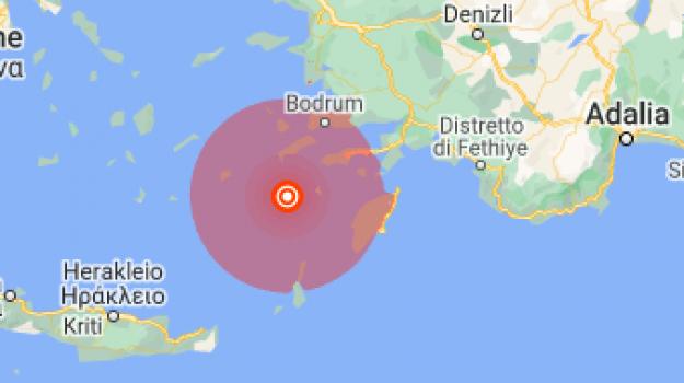 Grecia, terremoto, Turchia, Sicilia, Mondo