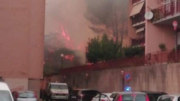 incendio, Enna, Cronaca