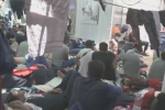 Migranti a bordo della Ocean Viking - frame da Facebook