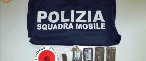 Caltanissetta, tunisino arrestato con 400 grammi di hashish in casa