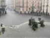 Catania allagata, la zona della pescheria sommersa dall'acqua