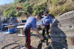I carabinieri con il rame restituito al proprietario