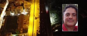 Il viadotto Ritiro e nel riquadro Salvatore Ada, l'operaio morto