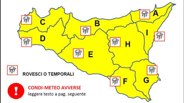 allerta meteo, previsioni meteo, Sicilia, Meteo