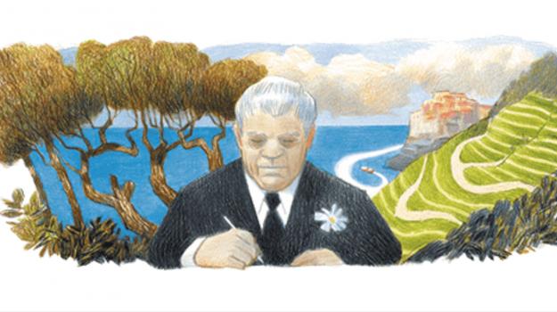 doodle di google, letteratura, Eugenio Montale, Sicilia, Cultura