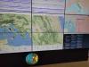 Sugli schermi della sala ssimica dellIngv i dati del terremoto nel Maceratese del 18 ottobre 2021 (fonte: Alessandro Amato/INGV)