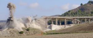 La demolizione del vecchio viadotto Salso