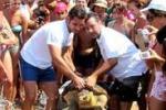 La Caretta caretta e' libera, festa sulla spiaggia di Siculiana