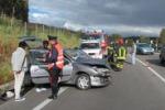 Piazza Armerina, auto sbanda sulla statale: le immagini