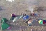 Tende e rifiuti, le spiagge agrigentine a Ferragosto
