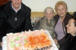 Bompensiere in festa per i 102 anni di nonna Maria