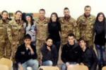 Campofranco, l'esercito incontra gli studenti