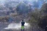 Gela, incendio al Parco archeologico delle Rimembranze