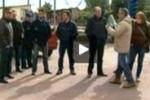 Tgs. Protesta operai Scat, autobus fermi a Caltanissetta
