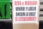 Gela, protestano i lavoratori della Riva&Mariani