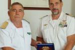 Il capitano Cottini alla Direzione Marittima di Catania