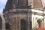 Aci Sant'Antonio, fulmine sulla chiesa di San Biagio