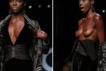 La foto. Anta Fall, la nuova Naomi sfila a seno nudo