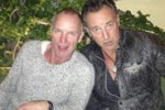 La foto. Sting e Bruce Springsteen insieme a Roma