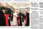 """Papa Francesco sul New York Times: """"Ha svegliato la Chiesa"""""""