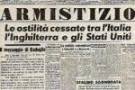 8 settembre 1943, Badoglio annuncia in radio l'armistizio