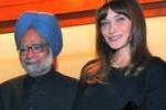 """Carla Bruni in India: """"Prego per avere un altro figlio"""""""