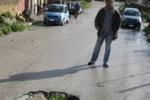 LA FOTO. La buca-voragine ad Agrigento