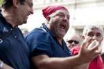 Operai Fiat in marcia su Roma, le immagini