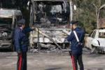Bolognetta, incendio al deposito dei bus