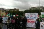 Falcone, festa di studenti al porto sotto la pioggia