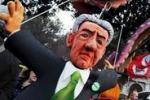 """""""No Monti day"""", oltre centomila persone sfilano a Roma"""
