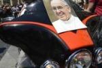 I bikers delle Harley Davidson dal Papa