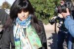 Cogne, la Franzoni davanti alla cooperativa sociale: le foto