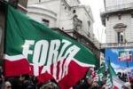 Decadenza Berlusconi, manifestazione FI a Palazzo Grazioli