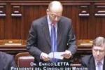 Fiducia, il discorso di Letta alla Camera: la diretta