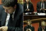 Voto di fiducia al Senato, Renzi e i ministri al telefono