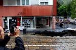 Maltempo, voragine di 12 metri in centro a Milano