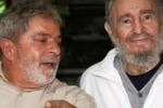 Lula a L'Avana con Fidel Castro
