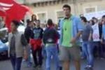 La protesta degli studenti a Enna