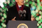 "Barack Obama accende il ""National Christmas Tree"""
