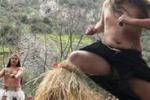 Santiago del Cile, la danza degli indigeni per il nuovo anno