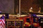Elicottero della polizia su un pub a Glasgow