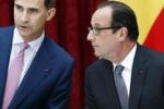 I reali di Spagna in visita da Hollande: le immagini