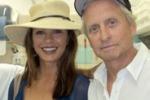 """Zeta Jones e Douglas a Rapallo: """"La cucina salvera' l'Italia"""""""
