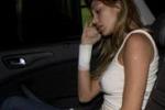 Incidente in moto per Belen e il ballerino di Amici. Le immagini
