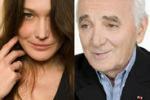 Carla Bruni, ritorno in musica al fianco di Aznavour